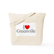 """I Love Greenville"" Tote Bag"