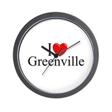 """I Love Greenville"" Wall Clock"