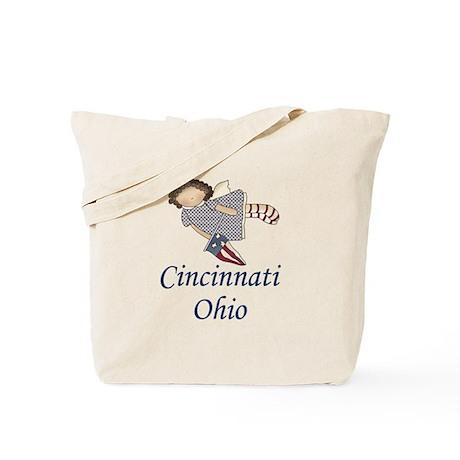 Cincinnati Ohio Angel Tote Bag