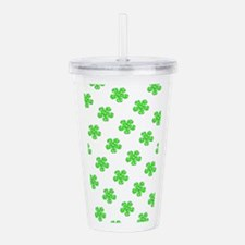 Green Floral St. Pats Acrylic Double-Wall Tumbler