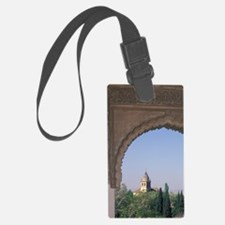 Viewed through arch in Generalif Luggage Tag