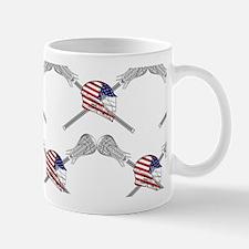 American Flag Lacrosse Helmet Wide Patt Mug