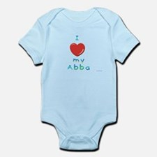 I Love My Abba Infant Bodysuit