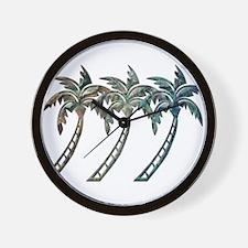 Cute Palm trees Wall Clock