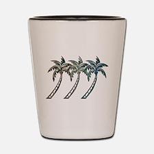 Cute Palm trees Shot Glass