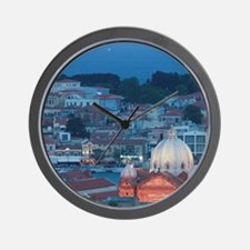 Mytilini Town: Waterfront View of South Wall Clock