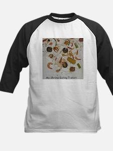 Shrimp Eating T-shirt Kids Baseball Jersey