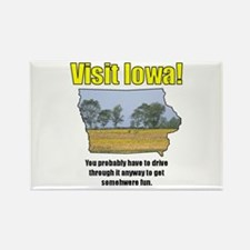 Visit Iowa . . . You Probably Rectangle Magnet