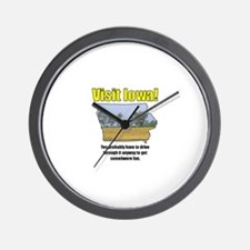 Visit Iowa . . . You Probably Wall Clock