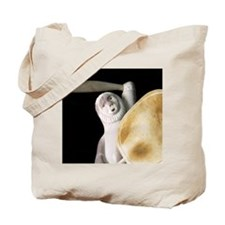 Ypical carved caribou antler figure, Clyd Tote Bag