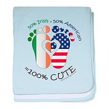 Irish American Baby baby blanket