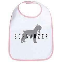 Schnauzer Dog & Text Bib