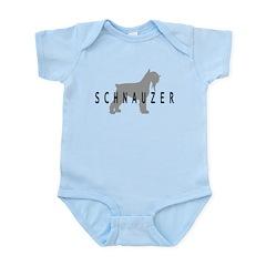 Schnauzer Dog & Text Infant Bodysuit