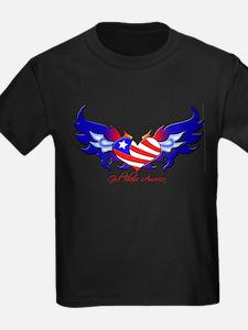 God Bless America Heart Flag T