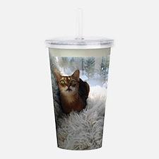 Lovely Cat Acrylic Double-wall Tumbler