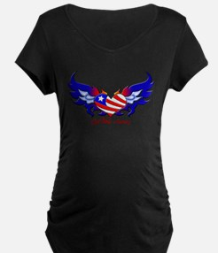 God Bless America Heart Flag T-Shirt