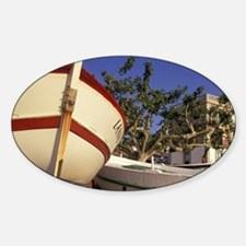 El Port de la Selva. Fishing boats  Sticker (Oval)