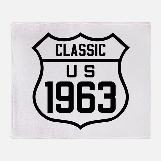 Classic US 1963 Throw Blanket