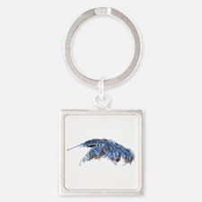 A is for Anteater Square Keychain