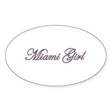 Miami Girl Oval Decal