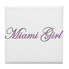 Miami Girl Tile Coaster