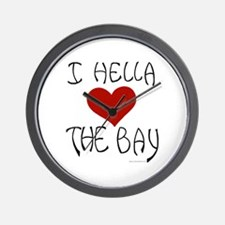 """Love the Bay"" Wall Clock"