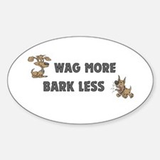 Bark Less Oval Decal
