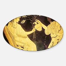 Greek vase painting. Triptolemos ta Decal