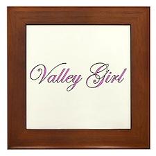 Valley Girl Framed Tile