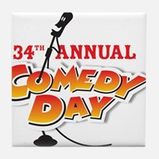Funny Comedy club Tile Coaster