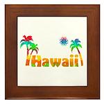 Hawaii Tropics Framed Tile