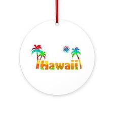 Hawaii Tropics Ornament (Round)