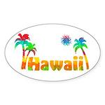Hawaii Tropics Oval Sticker