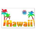 Hawaii Tropics Rectangle Sticker
