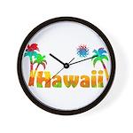 Hawaii Tropics Wall Clock