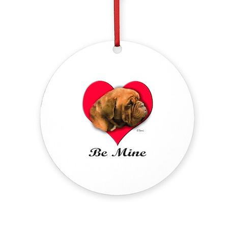 Dogue de Bordeaux Valentine Ornament (Round)