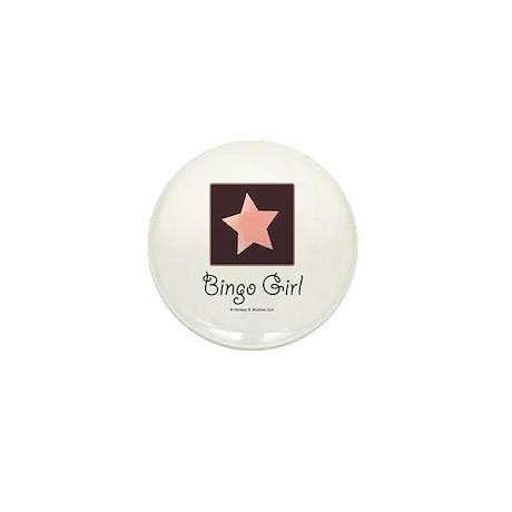 Bingo Girl Center Square Pink Star Mni Button