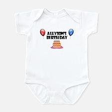 Allyson's Birthday Infant Bodysuit