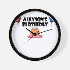 Allyson's Birthday Wall Clock