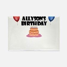 Allyson's Birthday Rectangle Magnet