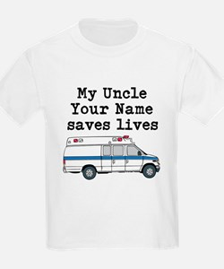 My Uncle Saves Lives Ambulance (Custom) T-Shirt