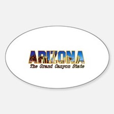 Arizona . . . The Grand Canyo Oval Decal