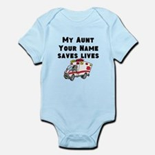 My Aunt Saves Lives Ambulance (Custom) Body Suit