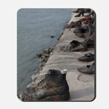 Budapest. Copper shoes along Danube Rive Mousepad