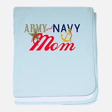 Army Navy Mom baby blanket