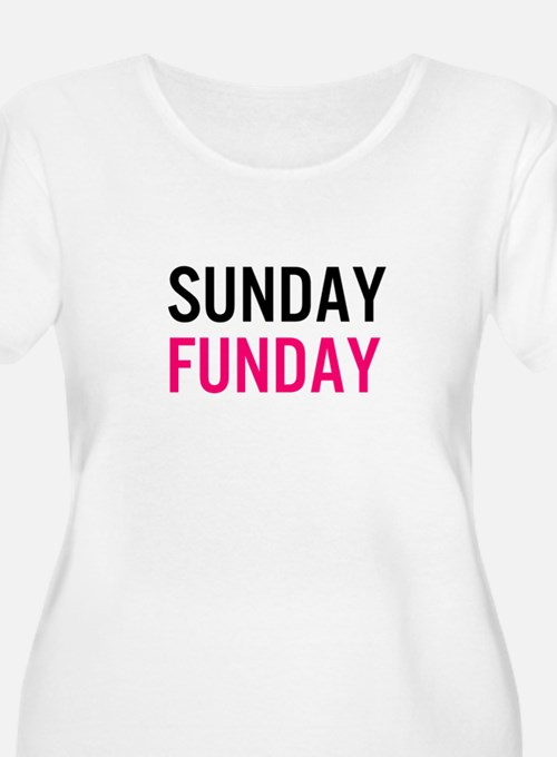 Sunday Funday (black / pink) Plus Size T-Shirt