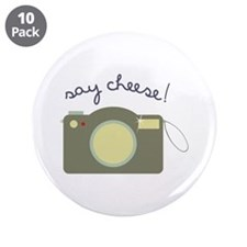 """Say Cheese! 3.5"""" Button (10 pack)"""