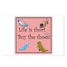 Life is Short, Buy the Shoes! Postcards (Package o