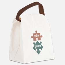 Mine Yours Canvas Lunch Bag