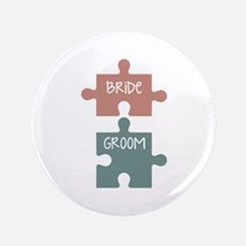 "Bride Groom 3.5"" Button (100 pack)"